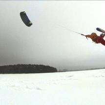 Arturas Dudenas kiteloop unhooked snow