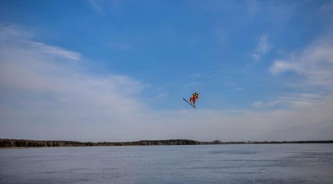 Artūras Dudėnas #78 Rėkvos ežero ledo upė+dienos maksimalus greitis 91,98 km/h